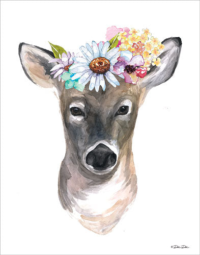 Dee Dee DD1608 - Deer with Flowers - Deer, Flowers from Penny Lane Publishing