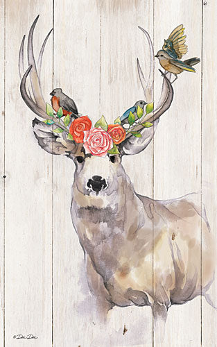 Dee Dee DD1609 - Deer Rose Perch - Deer, Flowers, Birds from Penny Lane Publishing