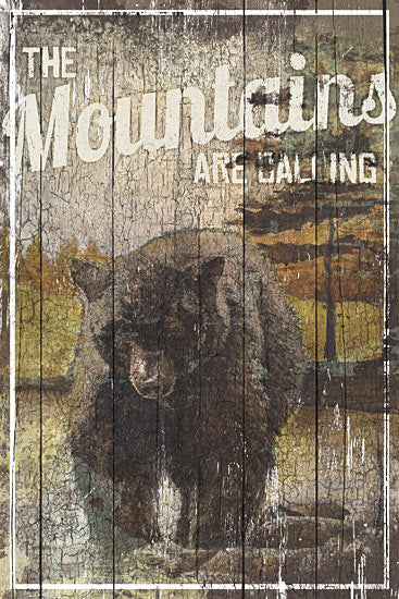 Dee Dee DD1621 - Mountain Call Bear - Bear, Mountains, Signs from Penny Lane Publishing