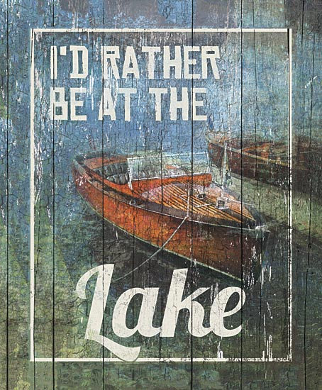 Dee Dee DD1622 - Rather be at the Lake - Rowboat, Lake, Signs from Penny Lane Publishing