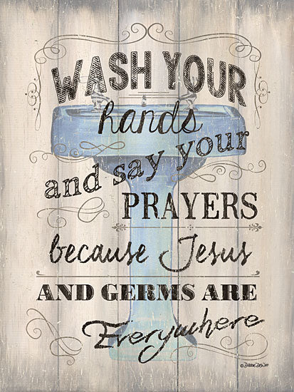 Debbie DeWitt DEW395 - Wash Your Hands - Bath, Inspirational, Signs, Typography from Penny Lane Publishing