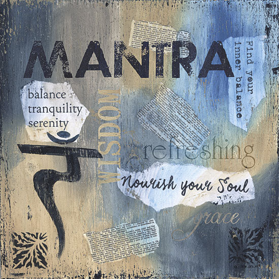 Debbie DeWitt DEW422 - Yoga Series - Mantra - Yoga, Signs, Typography from Penny Lane Publishing