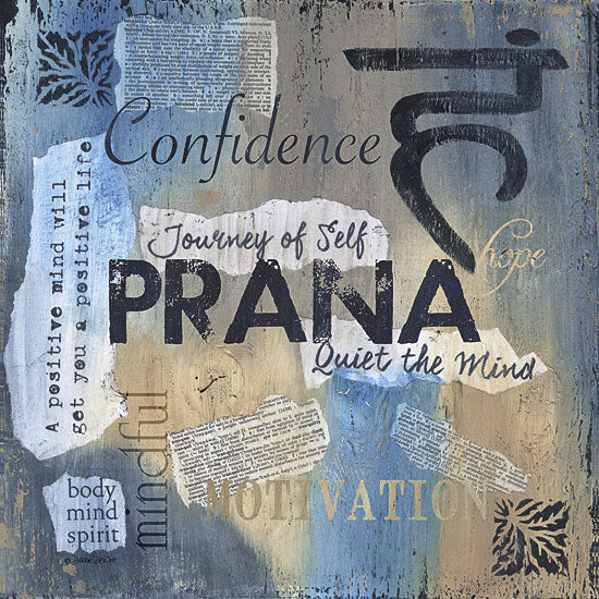 Debbie DeWitt DEW423 - Yoga Series - Prana - Yoga, Signs, Typography from Penny Lane Publishing