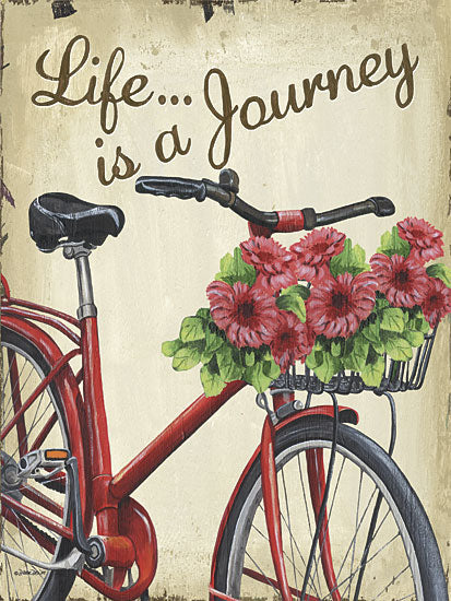 Debbie DeWitt DEW425 - Life is a Journey - Bicycle, Journey, Flowers from Penny Lane Publishing