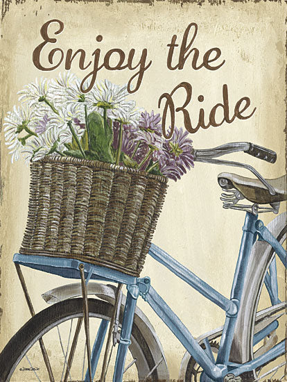 Debbie DeWitt DEW426 - Enjoy the Ride - Bicycle, Flowers from Penny Lane Publishing