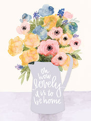 DOG133 - Lovely to Be Home Flowers - 12x16