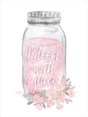 DOG137 - Bloom with Grace Jar - 12x16