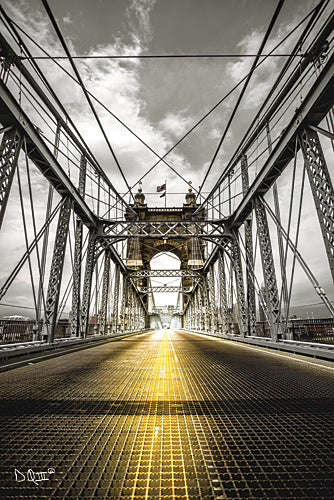 Donnie Quillen DQ127 - Bridge Aglow - Bridge, Cincinnati, Cities, Road, Urban from Penny Lane Publishing