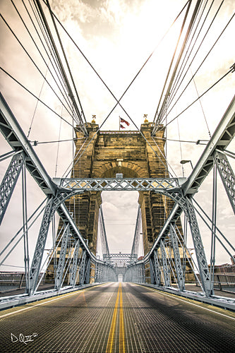 Donnie Quillen DQ128 - Bridge to Ohio - Bridge, Cincinnati, Cities, Road, Urban from Penny Lane Publishing