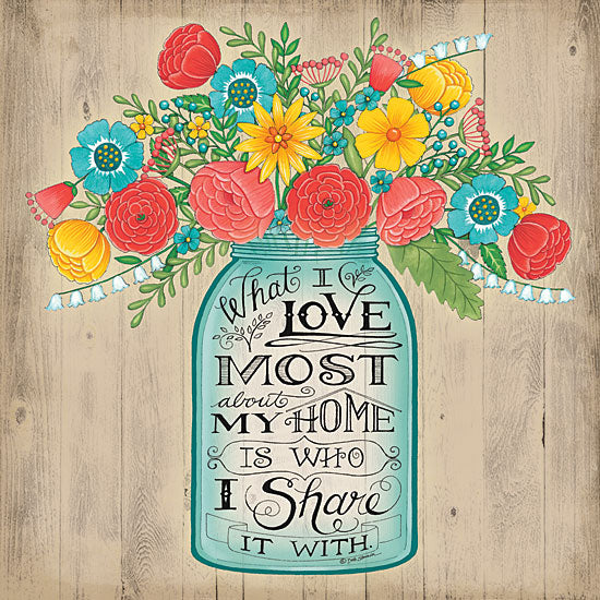 Deb Strain DS1066 - What I Love Most - Jar, Flowers, Home, Inspiring from Penny Lane Publishing