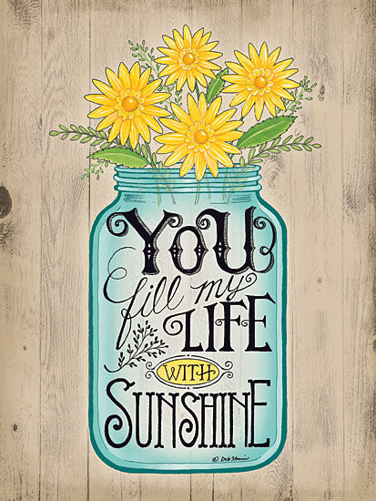 Deb Strain DS1097 - Sunshine - Jar, Flowers, Sunshine, Inspiring from Penny Lane Publishing