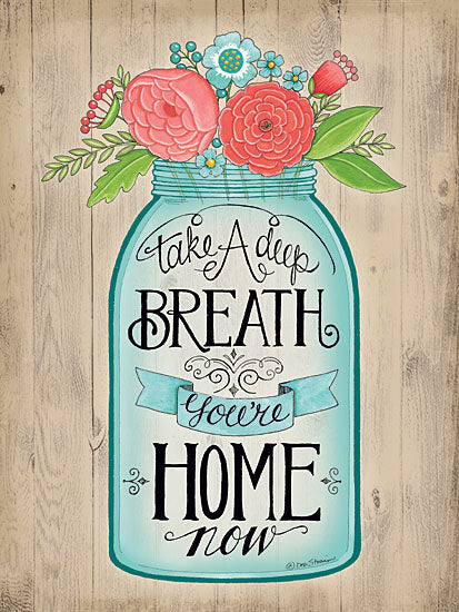 Deb Strain DS1098 - You're Home Now - Jar, Flowers, Home, Inspiring from Penny Lane Publishing
