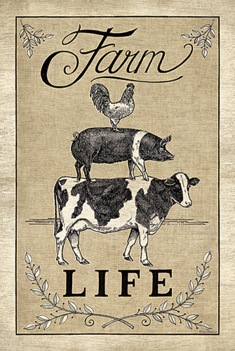 Deb Strain DS1451 - Farm Life - Country, Rooster, Cow, Pig, Signs from Penny Lane Publishing