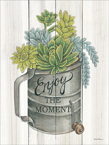 Deb Strain DS1493 - Enjoy the Moment Succulents - Succulents, Sifter, Kitchen from Penny Lane Publishing