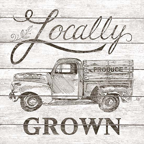 Deb Strain DS1567 - Locally Grown - Truck, Farm, Sepia from Penny Lane Publishing