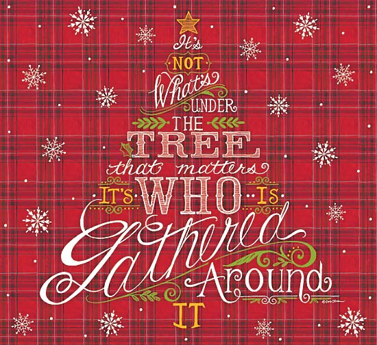 Deb Strain DS1572 - Gathered Around - Plaid, Holiday, Tree, Inspirational from Penny Lane Publishing