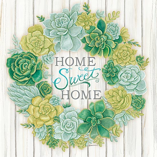Deb Strain DS1574 - Succulent Wreath - Wreath, Succulents, Signs, Inspirational from Penny Lane Publishing