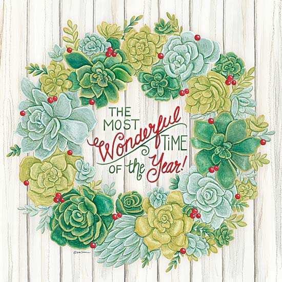 Deb Strain DS1575 - Christmas Succulent Wreath - Wreath, Succulents, Signs, Holiday from Penny Lane Publishing