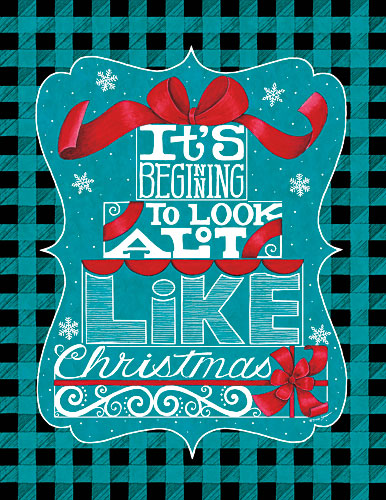 Deb Strain DS1578 - Like Christmas - Holiday, Signs, Plaid, Typography from Penny Lane Publishing