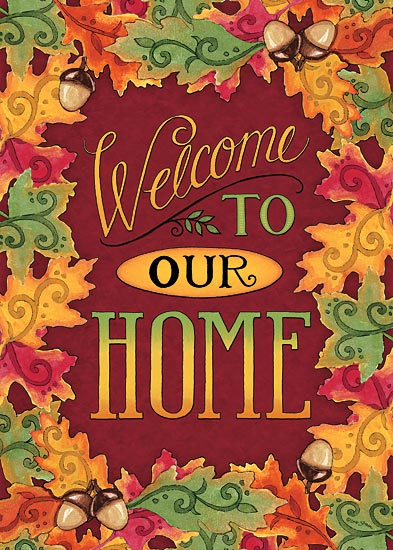 Deb Strain DS1596 - Welcome to Our Home          - Welcome, Autumn, Leaves, Acorns, Home from Penny Lane Publishing