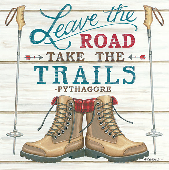 Deb Strain DS1845 - DS1845 - Leave the Road - 12x12 Signs, Typography, Hiking, Trails, Hobbies, Boots from Penny Lane