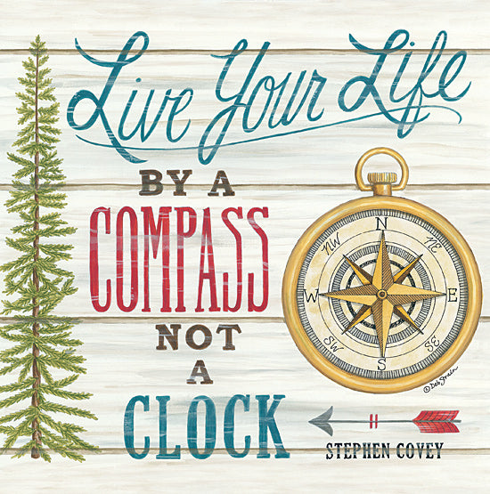 Deb Strain DS1846 - DS1846 - Compass Not a Clock - 12x12 Signs, Typography, Compass, Quotes, Trees from Penny Lane