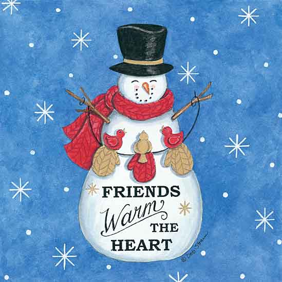 Deb Strain DS1869 - DS1869 - Friends Snowman - 12x12 Signs, Typography, Snowman, Birds, Mittens from Penny Lane