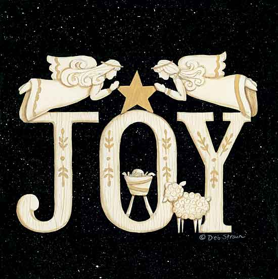 Deb Strain DS1874 - DS1874 - Joy Angels - 12x12 Signs, Typography, Baby Jesus, Sheep, Angels, Joy from Penny Lane