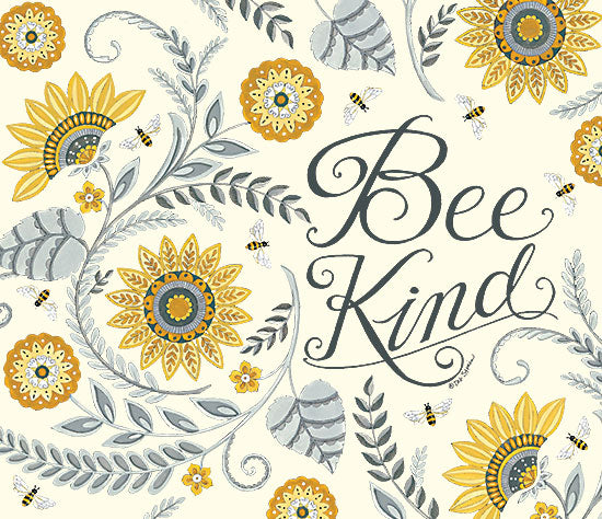 Deb Strain DS1941 - DS1941 - Bee Kind - 12x12 Be Kind, Bees, Flowers, Signs, Motivational from Penny Lane