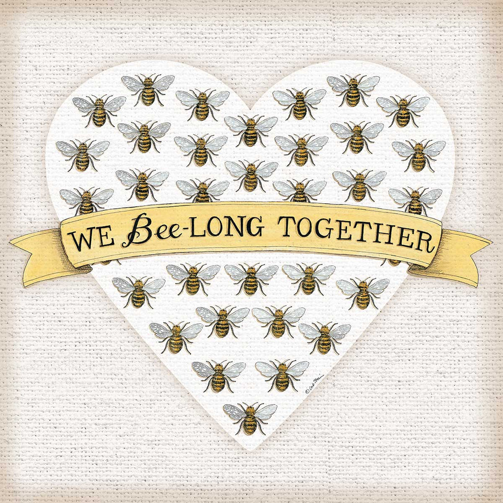 Deb Strain DS1942 - DS1942 - We Bee-Long Together - 12x12 We Belong Together, Family, Bees, Heart, Love, Banner, Signs from Penny Lane