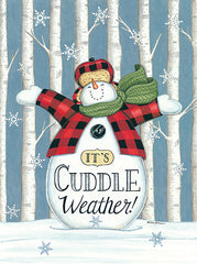 DS1953 - Cuddle Weather Snowman - 12x16
