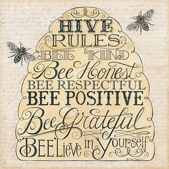 Deb Strain DS878 - Hive Rules - Bee Hive, Bees, Encouraging, Signs from Penny Lane Publishing