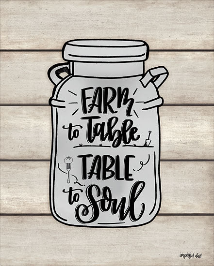 Imperfect Dust DUST438 - DUST438 - Farm to Table ~ Table to Soul  - 12x16 Signs, Typography, Mason Jar, Farm to Table, Table to Soul from Penny Lane
