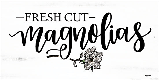 Imperfect Dust DUST585 - DUST585 - Fresh Cut Magnolias - 18x9 Flowers, Magnolias, Sketch, Black & White, Signs from Penny Lane