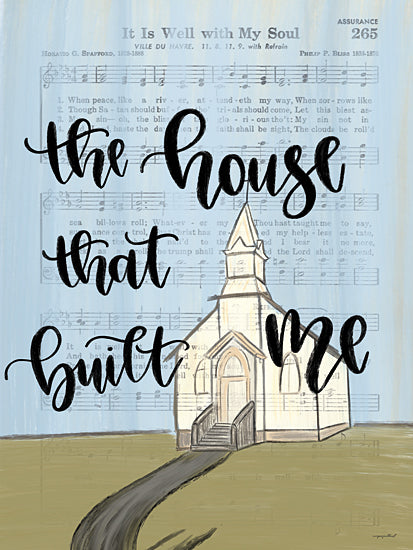 Imperfect Dust DUST600 - DUST600 - The House That Built Me - 12x16 The House That Built Me, Church, Sheet Music, Religious Song, Calligraphy, Signs from Penny Lane