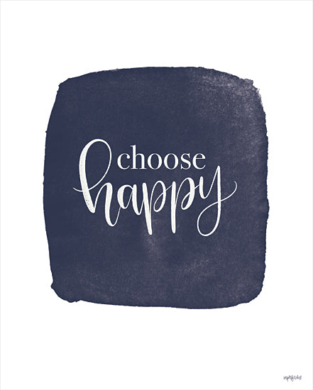 Imperfect Dust DUST653 - DUST653 - Choose Happy - 12x16 Choose Happy, Blue and White, Motivational, Signs from Penny Lane