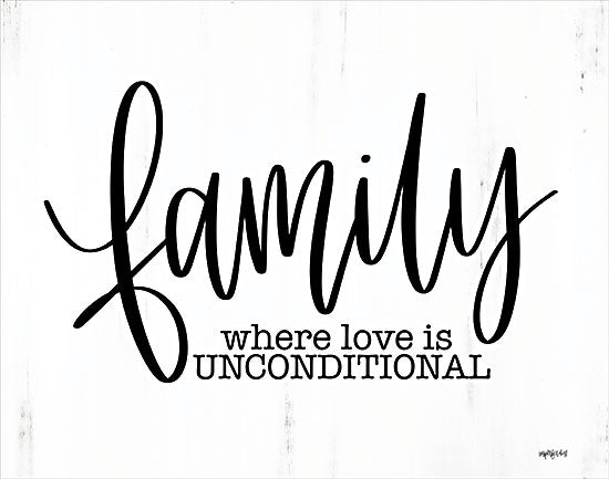 Imperfect Dust DUST686 - DUST686 - Family - Unconditional Love  - 16x12 Family, Unconditional Love, Quarantine Art, Calligraphy, Signs from Penny Lane