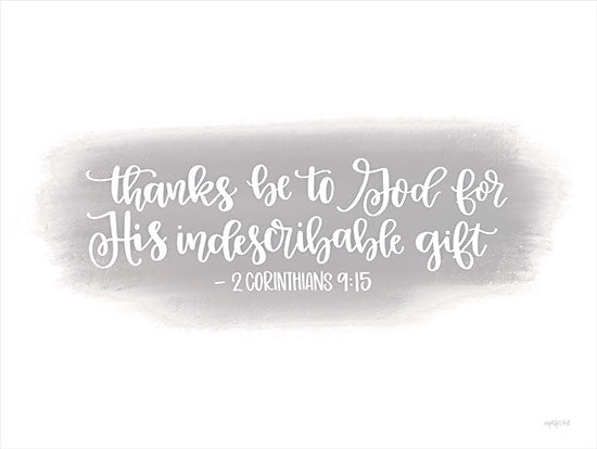 Imperfect Dust DUST689 - DUST689 - Indescribable Gift - 16x12 Indescribable Gift, Thankful, Religious, Bible Verse, Corinthians, Calligraphy, Signs from Penny Lane