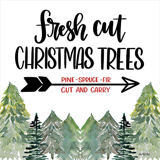Imperfect Dust DUST729 - DUST729 - Fresh Cut Christmas Trees - 12x12 Fresh Cut Christmas Trees, Tree Farm, Christmas Trees, Christmas, Arrow, Signs from Penny Lane