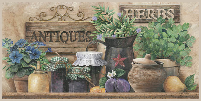 Ed Wargo ED190A- Antiques and Herbs - Antiques, Herbs, Flowers, Signs, Pottery, Crocks from Penny Lane Publishing