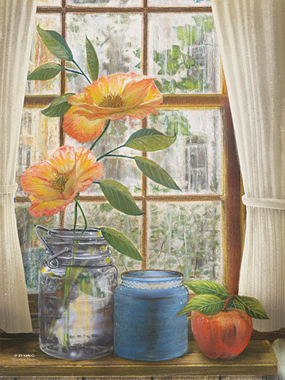 Ed Wargo ED272 - Afternoon Flowers - Flowers, Jar, Apple, Window from Penny Lane Publishing