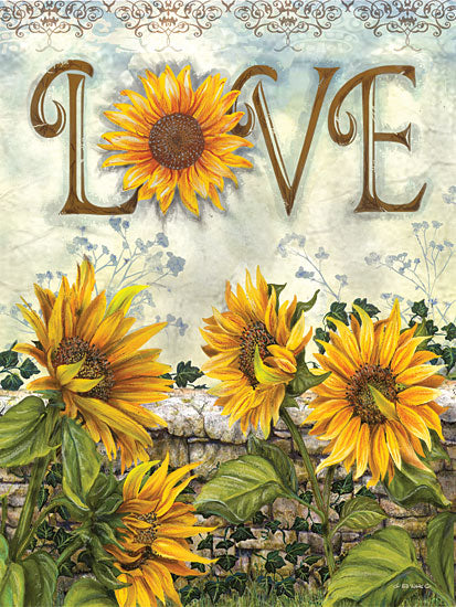 Ed Wargo ED316 - Love - Sunflowers, Love, Fence from Penny Lane Publishing