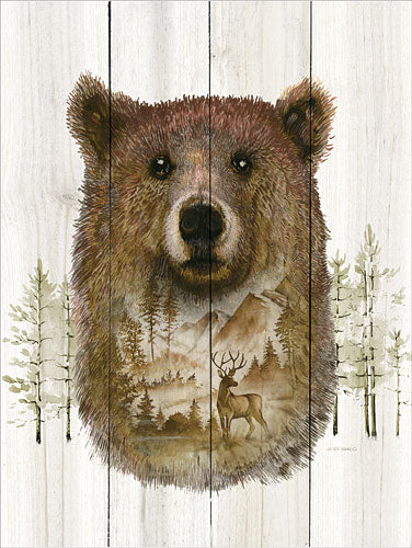 Ed Wargo ED350 - Bear Wilderness Portrait - Bear, Deer, Mountains, Trees, Nature from Penny Lane Publishing