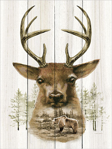 Ed Wargo ED351 - Deer Wilderness Portrait - Bear, Deer, Mountains, Trees, Nature from Penny Lane Publishing
