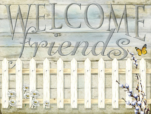 Ed Wargo ED353 - Welcome Friends - Welcome, Signs, Fence, Flowers from Penny Lane Publishing