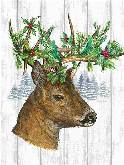 Ed Wargo ED362 - Holiday Deer  - Deer, Holiday, Greenery from Penny Lane Publishing