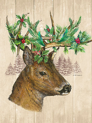 Ed Wargo ED363 - Holiday Deer - Holiday, Deer, Lodge, Greenery from Penny Lane Publishing