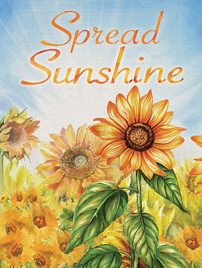 Ed Wargo ED450 - ED450 - Spread Sunshine - 12x16 Spread Sunshine, Sunflowers, Flowers, Autumn, Signs from Penny Lane