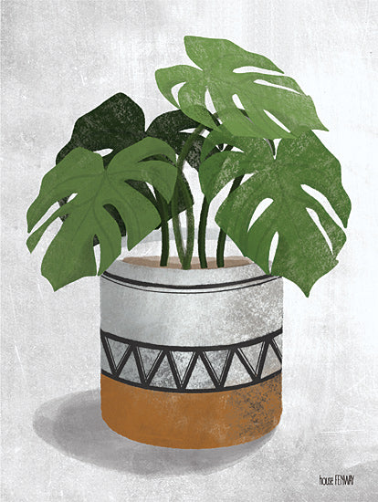 House Fenway FEN113 - FEN113 - Monstera Plant - 12x16 Plants, Vase, Monstera, Still Life from Penny Lane