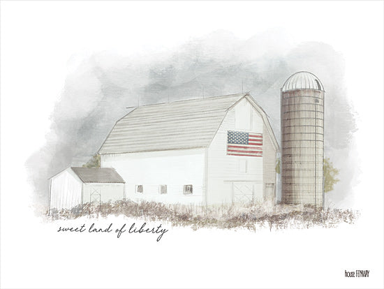 House Fenway FEN121 - FEN121 - Sweet Liberty     - 16x12 Calligraphy, Farm, American Flag, Silo, Barn, Signs from Penny Lane